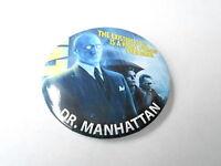 VINTAGE PINBACK BUTTON #74-001 - WATCHMEN MOVIE - DR MANHATTAN