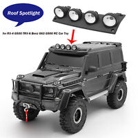 ABS Roof Spotlight Headlight Lamp for RX-4 G500 TRX-6 Benz G63 G500 RC Car Toy