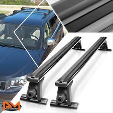 "54""Aluminum Roof Rack Adjustable Van/SUV Top Rail Crossbar Luggage Carrier Black"