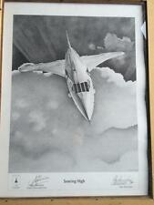 """Concorde Alan Stammers Ltd Edition of 500 Print """"Soaring High"""" Signed Bannister"""