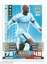 2014 / 2015 EPL Match Attax Base Card (167) Eliaquim MANGALA Manchester City