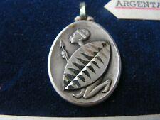 medaille    ancienne    guerrier massai      (4   argentan )