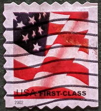 Stamp United States 2002 First Class U.S. Flag Booklet Used