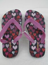 OLD NAVY girls Colorfull Hearts  Flip Flops size 11 UK- 10/11 US L@@K