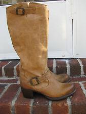 Womens Frye VERA Tall Slouch Engineer Motorcycle Boots  sz 7.5 #76528  Khaki Tan