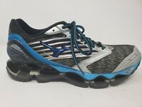 Mizuno Wave Prophecy 5 Mens Running Shoes Size 9 Black Blue Cross Training