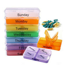 New Medicine Weekly Storage Pill 7 Day Tablet Box Container Case Organizer
