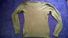 Smart Olive green V neck jumper size 10 work casual VGC