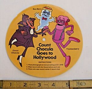 COUNT CHOCULA GOES TO HOLLYWOOD RECORD CEREAL PREMIUM