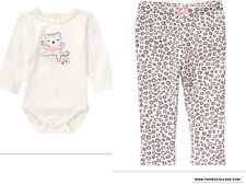 GYMBOREE Cuddle Club Snow Leopard Outfit NWT Size 18-24 moths