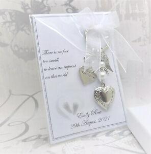 Baby Loss Locket Keyring Gift Memorial Keepsake Charm Miscarriage Stillborn