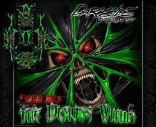 """TRAXXAS X-MAXX GRAPHICS WRAP DECALS """"THE DEMONS WITHIN"""" GREEN CARBON EDITION"""