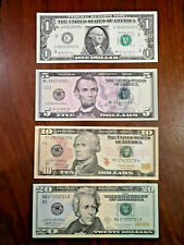 More details for uncirculated $1 / $5 / $10 / $20 usa federal reserve notes / legal tender choice