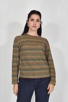 MISSONI Maglione Multicolore Stile Casual In Lana TG it 46 uk 14 Donna Woman