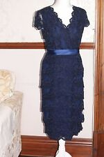Jacques Vert Dress Navy Blue Lace Party Cocktail Wedding Mother of Bride BNWT 10
