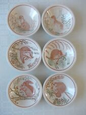 6 vintage bowls dishes The royal society for nature conservation John Tams