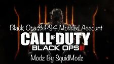 Call of Duty Black Ops 3 (BO3) Modded Account / Hacked Account (PS4 ONLY!)🌟🌟🕹