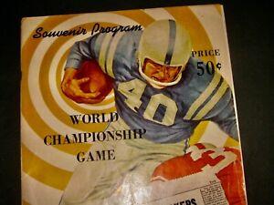 1961 World Championship GREEN BAY PACKERS VS. NEW YORK GIANTS Super Bowl Program