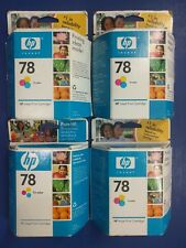 Lot of 4~HP Inkjet Print Cartridge 78 Tri-Color C6578DN~Exp 2008~New Old Stock