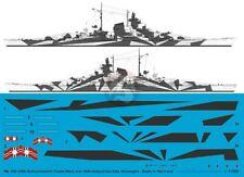 Peddinghaus 1/350 Tirpitz Battleship Markings w/Hull Camo Norway 1944 WWII 3586