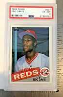 1985 Topps Eric Davis #627 PSA 6 EX-MT Cincinnati Reds Baseball Card