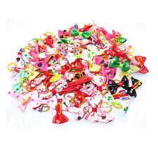 Wholesale 100PCS/Bag Pet Cat Dog Hair Bows * Rubber Bands Grooming Accessories