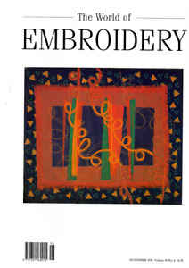 2 THE WORLD OF EMBRIODERY MAGAZINES JULY AND NOVEMBER 1998 IN VG COND