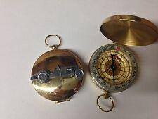 MG NE ref140 pewter effect car emblem on a Golden Compass
