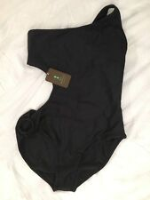 MIA MARCELLE REINO CUTOUT ONE SHOULDER ONE PC SWIMSUIT BLACK *  Size  Small