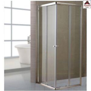 Parete fissa per box doccia 1 lato in cristallo trasparente mm.6 74 - 80 lusso
