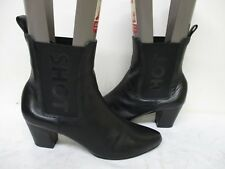 Kate Bosworth Black Leather Ankle Boots Size 8.5 M