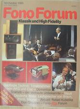 FonoForum 10/85 AKG P25 S, Elac EMM 270, Sony CDP-502 ES, Braun LS 120, Stax SRM