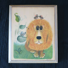 Childrens Whimsical Lion, Mice, Lady Bug and Snail wall placque