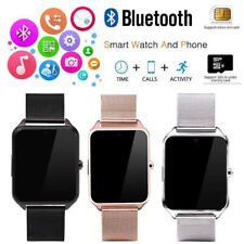 Bluetooth Smart Watch Phone Stainless Steel for IOS Android iPhone Samsung Gift