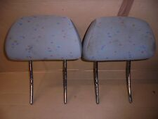 VW VOLKSWAGEN POLO MK4 1997 PAIR OF FRONT TEXTILE HEADRESTS
