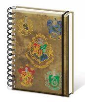 Offiziell Harry Potter Hogwarts Haus Wappen Notebook Gefüttert A5 Film Geschenk