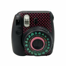 Cute Fujifilm Instax Mini 8 Camera Decoration Body Sticker Decal Sunflower-Black