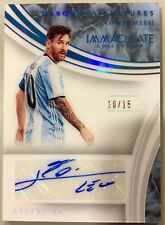 2017 Panini Immaculate Lionel Messi Autograph 10/15 tshirt number (1 of 1) auto