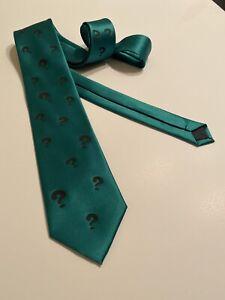 The Riddler Neckties, Lots Of Question Marks, Dark Forest Green Necktie, Cool