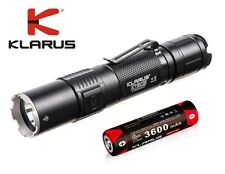New Klarus XT2CR USB Cree XHP35 HD E4 1600 Lumens LED Flashlight (With Battery)