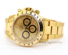 Rolex Daytona Cosmograph Diamond Dial Inverted 6 16528  1991 N Serial Wristwatch