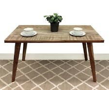 ABBY INDUSTRIAL DINING TABLE TIMBER ACACIA WOOD KITCHEN FURNITURE 1.45M LONG