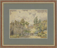 Framed Mid 20th Century Watercolour - Village Landscape View