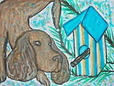 American Water Spaniel Dog 5 x 7 Art Print Vintage Style
