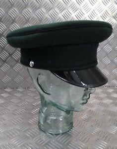 Genuine British Army The Royal Yeomanry Green Parade Dress Hat / Visor Cap 58cm
