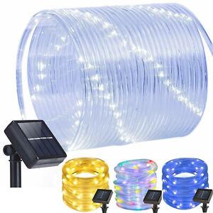Solar LED Lichtschlauch Außen Lichterschlauch Solarleuchte Licht lichterkette DE