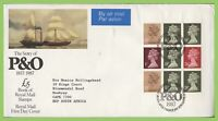 G.B. 1987 P & O booklet pane Royal Mail First Day Cover, Bureau