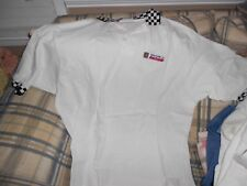 Square D Racing Kenny Wallace white golf shirt sz XXL