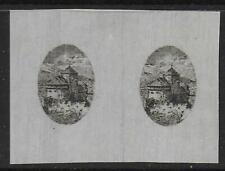 Liechtenstein stamps 1921 MI 54 Imperforated PROOF PAIR UNG(as issued) VF