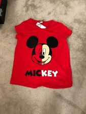 Disney Mickey Mouse Tshirt Red Brand New Size 16